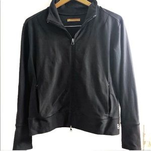 Lucy Black Performance Zip-Up Track Jacket